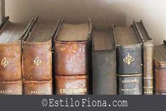 Inspiración para lucir los libros antiguos y decorar.