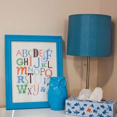 Free printable alphabet art for kids room from Vixen Made
