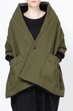 Assembly New York Pocket Shawl (Olive/Black) jacket #minimalist #fashion #style