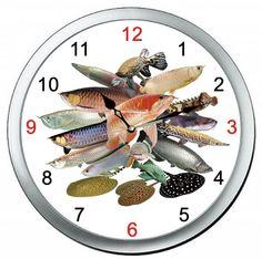 各種の大型熱帯魚の壁掛け時計!_画像1