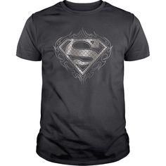 Superman Tribal Steel Logo