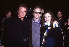 Johnny Cash, Tom Petty and June Carter Cash in Los Angeles, California on January 7th, 1995.