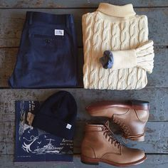 Outfit grid - Cable sweater