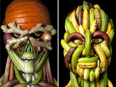 Photographer Recreates Portraits Inspired by 16th Century Painter #Arcimboldo. #photography