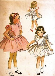 McCall's 4066 Girls' Dress Buttons Down the Back with Sash That Ties in a Bow Sewing Pattern , Vintage 1957 by McCall's, http://www.amazon.com/dp/B00COW2G8Q/ref=cm_sw_r_pi_dp_e62Srb16GT6EF