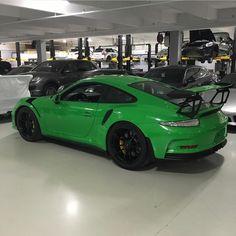 Porsche 991 GT3 RS painted in RS Green Photo taken by: @t_schleicher on Instagram