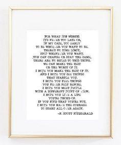 Loving this F. Scott Fitzgerald 'On A Big Scale' Print on #zulily! #zulilyfinds