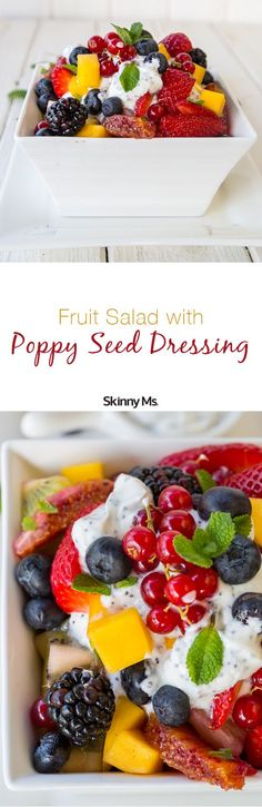 Fruit Salad with Poppy Seed Dressing