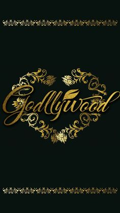 Gold and black godllywood phone wallpaper
