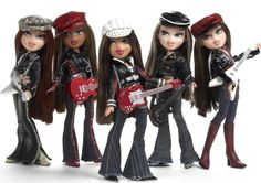 Bratz Rock Angelz 2005: Roxxi, Sasha, Yasmin, Jade, and Cloe