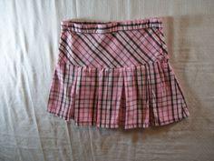 Crazy 8 Girls Size 7 Plaids & Checks Multi-Color 100% Cotton Summer Skirt #Crazy8 #Everyday