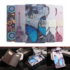 For Samsung Galaxy J2 Prime Case Cover Luxury butterfly tower painting wallet flip Leather protective cover for Galaxy J2 Prime