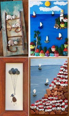 MENTŐÖTLET - kreáció, újrahasznosítás: Egyszerű kavicsképek gyerekszobába Frame, Stones, Diy, Home Decor, Stone Crafts, Crafting, Picture Frame, Rocks, Decoration Home