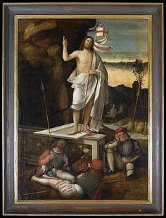 Marco Basaiti, Resurrezione di Cristo, XVI sec., olio su tela   Silvia Baldis restauri