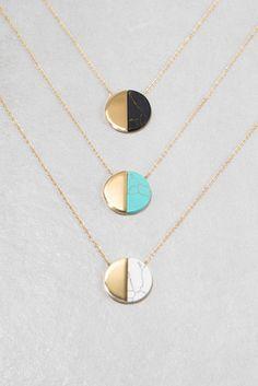 Callista Stone Necklace (14K Gold)