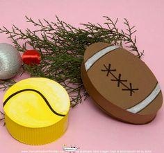 Cajitas de regalo originales para deportistas: http://www.manualidadesinfantiles.org/cajitas-de-regalo-originales-para-deportistas