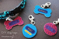DIY Shrinky Dinks dog tags with printable | CherylStyle.com