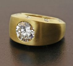"Diamond and 22K Yellow Gold ""Gipsy"" Ring by James de Givenchy #Taffin #JamesdeGivenchy #Ring"
