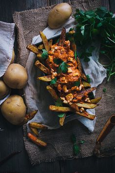 Oven Baked Curry Fries with Tikka Masala Sauce | Adventures in Cooking