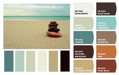Beachy, coastal, spa colors, perfect for a whole house, including accent colors