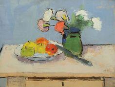 ALEXANDRU CIUCURENCU – Vas cu garoafe şi mere Painting & Drawing, Still Life, Drawings, Bouquets, Flowers, Dan, Paintings, Image, Glass