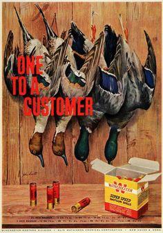 1957 Ad Winchester Super Speed Shells #vintage #gun #advertising