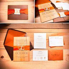 Invitaciones para boda en color #CelosiaOrange #Wedding #invitation #YUCATANLOVE