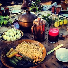 Healthy lunch at the secret garden #moroccanfood #organic #slowlife #secretgarden #marrakesh #morocco