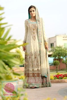 Get it at amani www.facebook.com/2amani ... Pakistani Fashion, Pakistani dress, bridal couture week #Pakistani fashion #Pakistani clothes Pakistani wedding dress Elegant Pakistani Clothes for 2013 stunning Pakistani bridal outfit
