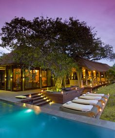 Step into the luxe lodging at Phinda Private Game Reserve in South Africa