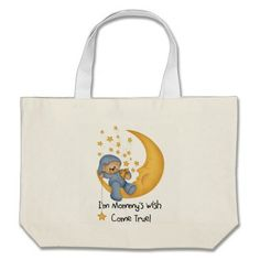 Bear and Moon Mommy's Wish Come True Tote Bag