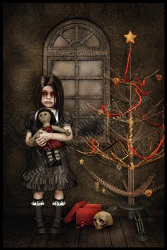 Zombie Xmas by UnholyVault on DeviantArt Zombie Christmas, Merry Christmas, Dark Christmas, Christmas Greetings, Christmas Stuff, Christmas 2019, Christmas Crafts, Gothic Horror, Arte Horror