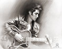 Elvis Comeback Tour - Guitar Strumming Fine Art Print
