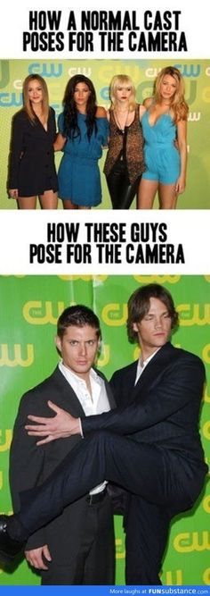 Way to pose.  Gossip girl and supernatural = perfection