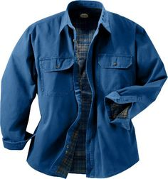 Cabela's: Cabela's Flannel-Lined Stonewash Canvas Shirt - 2XL Tall