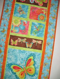 Butterfly Wall Hanging or Table Runner by PicketFenceFabric, $36.00
