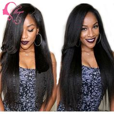 Find More Human Wigs Information about Fashion Style Kinky Straight Wig Italian Yaki Human Hair Full Lace Wig/Lace Front Wig for Black Women Glueless Full Lace Wigs,High Quality wig holder,China wig base Suppliers, Cheap wig female from Qingdao IMeya Hair Product Co.,Ltd on Aliexpress.com