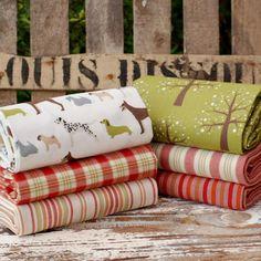 Rustic Fat quarter fabric bundle  100% cotton  by fabricsandfrills