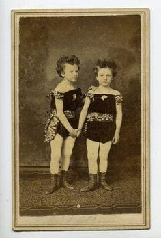 RARE 1871 Twin CIRCASSIAN Girls CDV Photo Circus Act St Louis Interesting | eBay