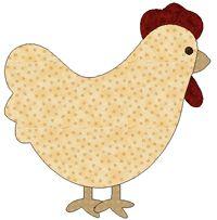 chicken quilt templates - a chicken quilt, for my Chicken :)