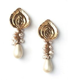 Art Deco Graduated Flame Posts, Antique Baroque Pearl Clusters and Drops, long. Pearl Earrings, Drop Earrings, Baroque Pearls, Art Decor, Jewelry Design, Antiques, Antiquities, Pearl Studs, Antique