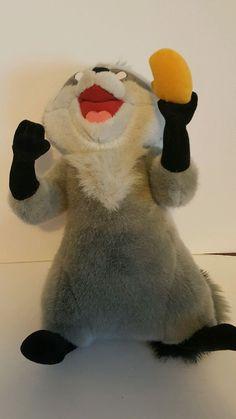 "Vintage Disney World 16"" Plush MEEKO Raccoon POCAHONTAS Jointed Arms Moveable  #Disneyland"