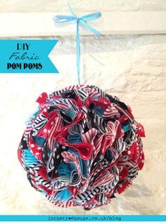 How to make a DIY Fabric Pom Pom Wedding or Party Decoration 1