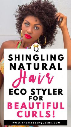 Shingling Natural Hair With Eco Styler For Beautiful Curls! - The Blessed Queens #CoconutOilHairCare Natural Hair Updo, Long Natural Hair, Natural Hair Growth, Natural Hair Styles, Natural Dreads, Long Hair, Wash N Go, Best Natural Hair Products, Natural Haircare