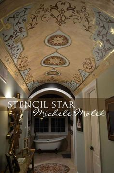 Stencil Star Michele Molek's work via Paint and Pattern