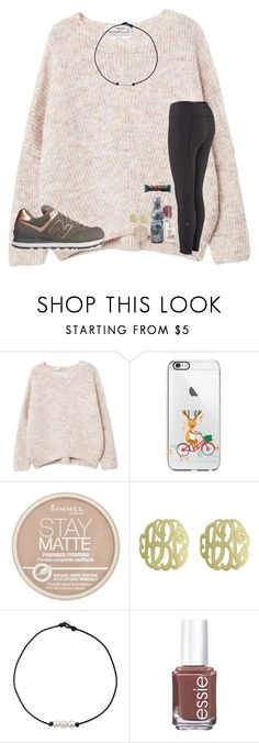 """""""12 Days!!!"""" by mae343 ❤ liked on Polyvore featuring MANGO, New Balance, Rimmel, Initial Reaction and Essie"""