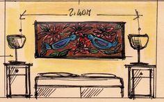 bozzetto di Dalila Chessa per camera Martin Pescatore www.dalilachessa.com www.sassetaalta.it
