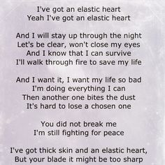 it's hard to lose a chosen one ... Elastic Heart ~ Sia