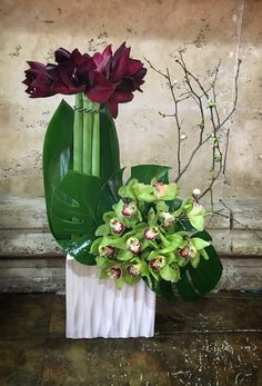 Send the Amaryllis & Orchids bouquet of flowers from Heathers Flowers in Marina del Rey, CA. Local fresh flower delivery directly from the florist and never in a box!