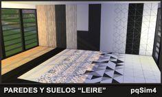 "Paredes y Suelos ""Leire"". Sims 4 Custom Content. ~ pqSim4"